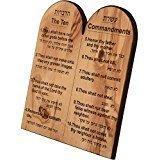 Ten Commandment in English & Hebrew..Medium