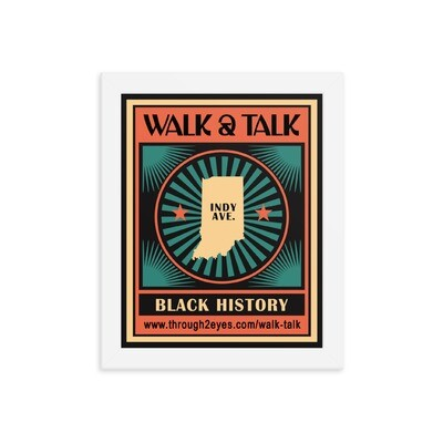 Walk & Talk Framed poster (by Insight Designs)