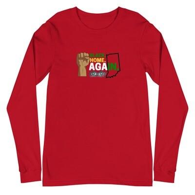 RED - Black Home AgaIN - Long Sleeve Tee