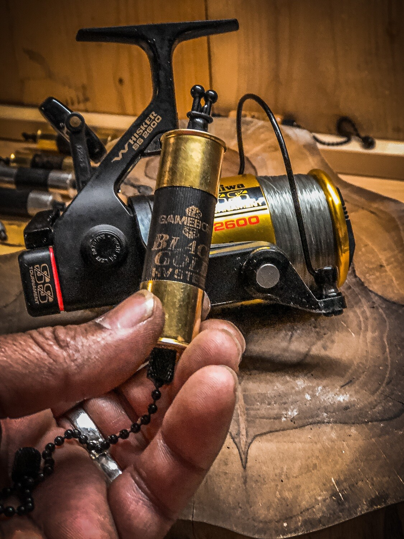 Gold Limited Editions Custom Made Ed Skillz Shotgun Shell Carp Bobbins Large