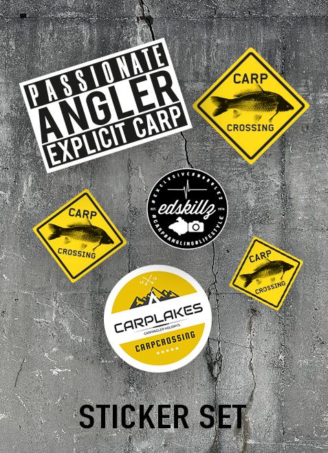 Carpcrossing Sticker Set