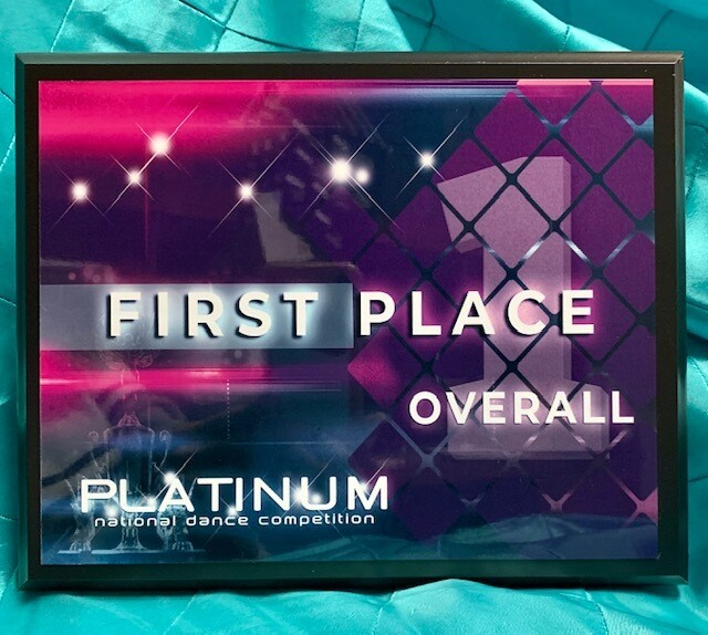 1st Place Overall Plaque