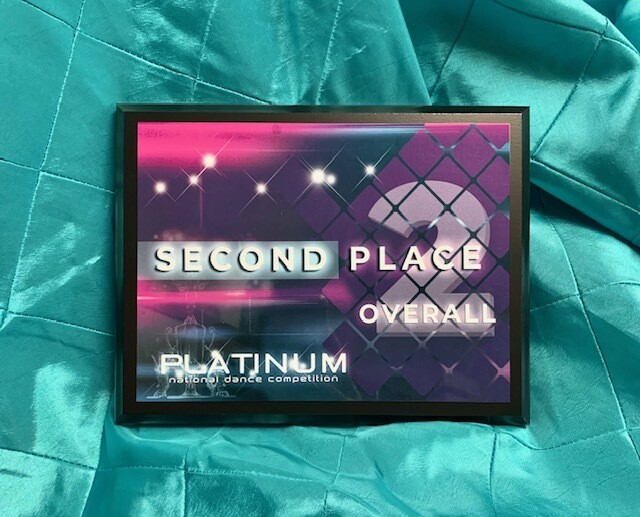 2nd Place Overall Plaque