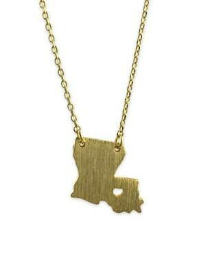 Louisiana Heart Necklace