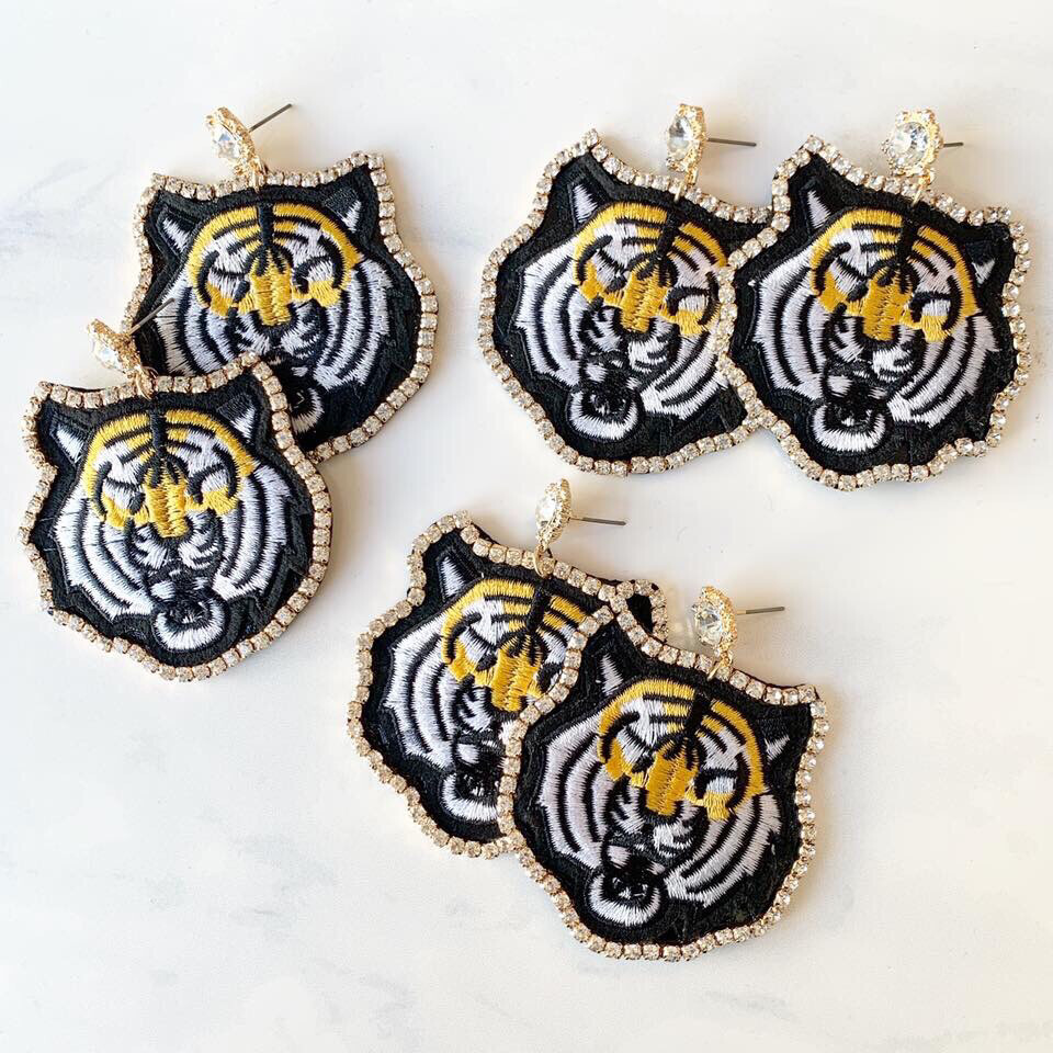 Tiger Bling Earrings