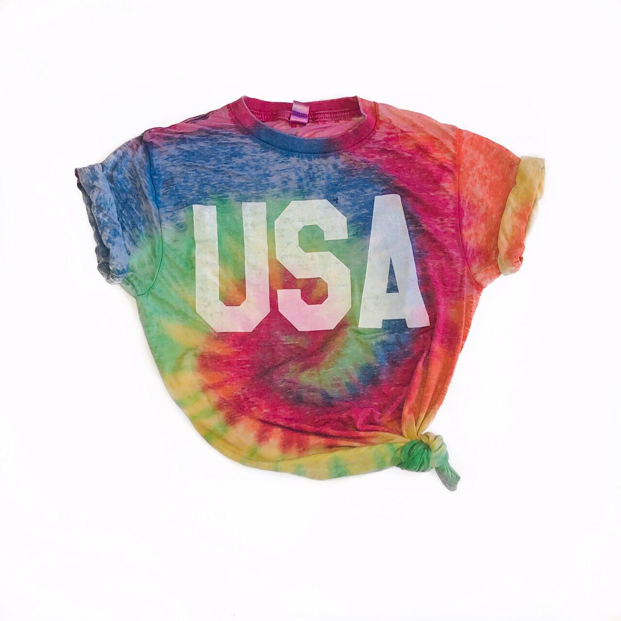 Vintage USA Tie Dye Tee 40% OFF