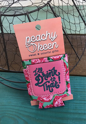 """I'll Drink To That "" Koozie with pocket for money/cards/ID"