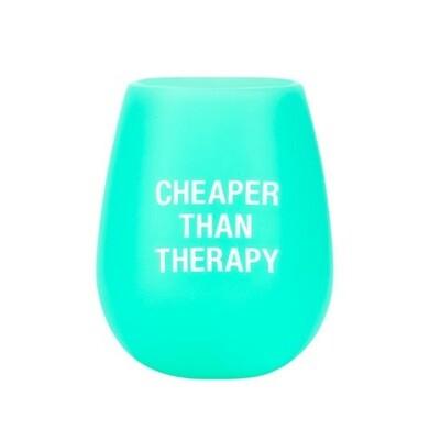 Cheaper Than Therapy Silicone Wine Glass