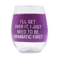Dramatic First Wine Glass