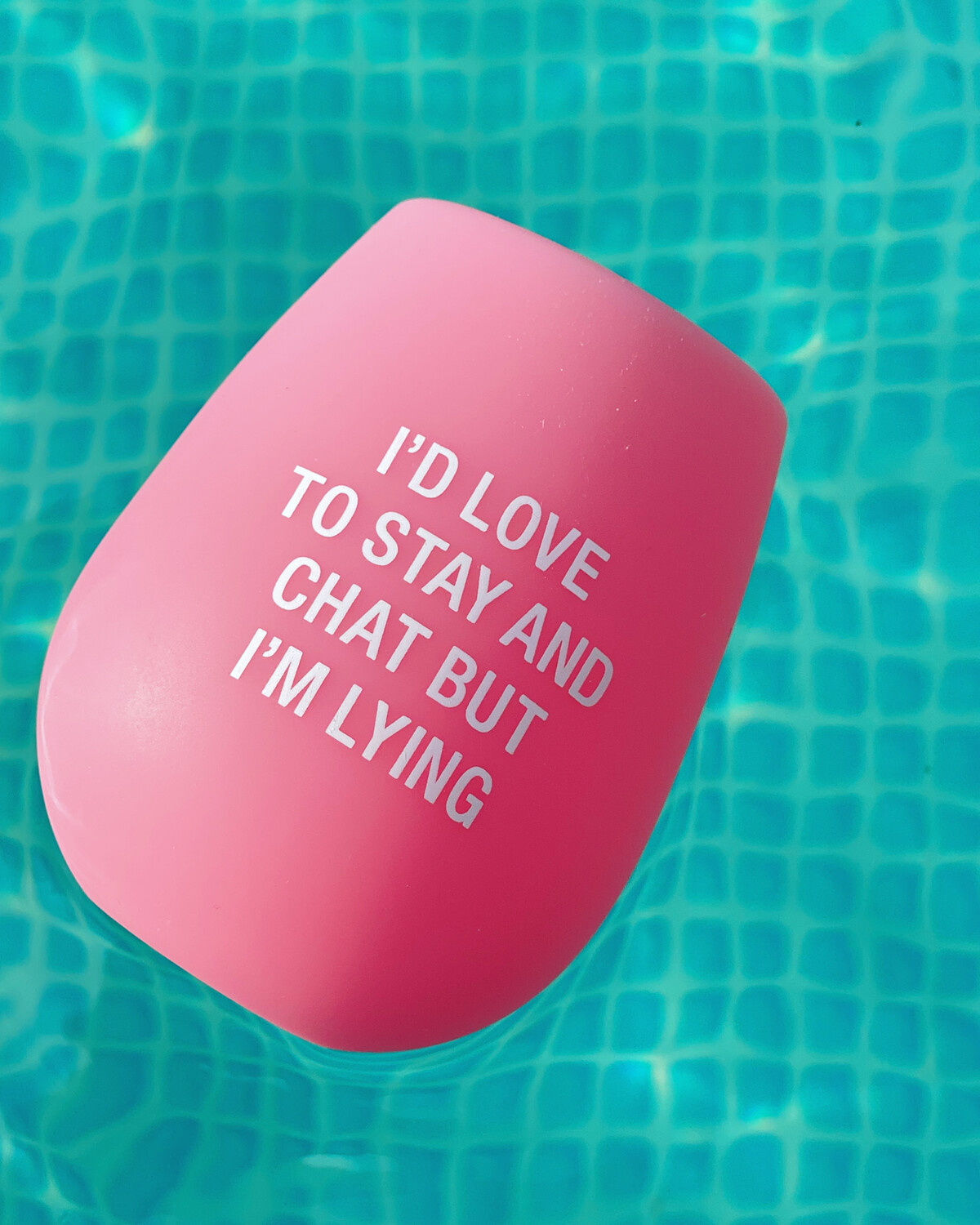 Stay And Chat Silicone Wine Glass