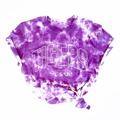 LSU Acid Bleached Unisex Tee