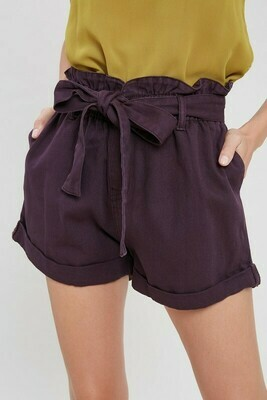 PLUM PAPER BAG SHORTS