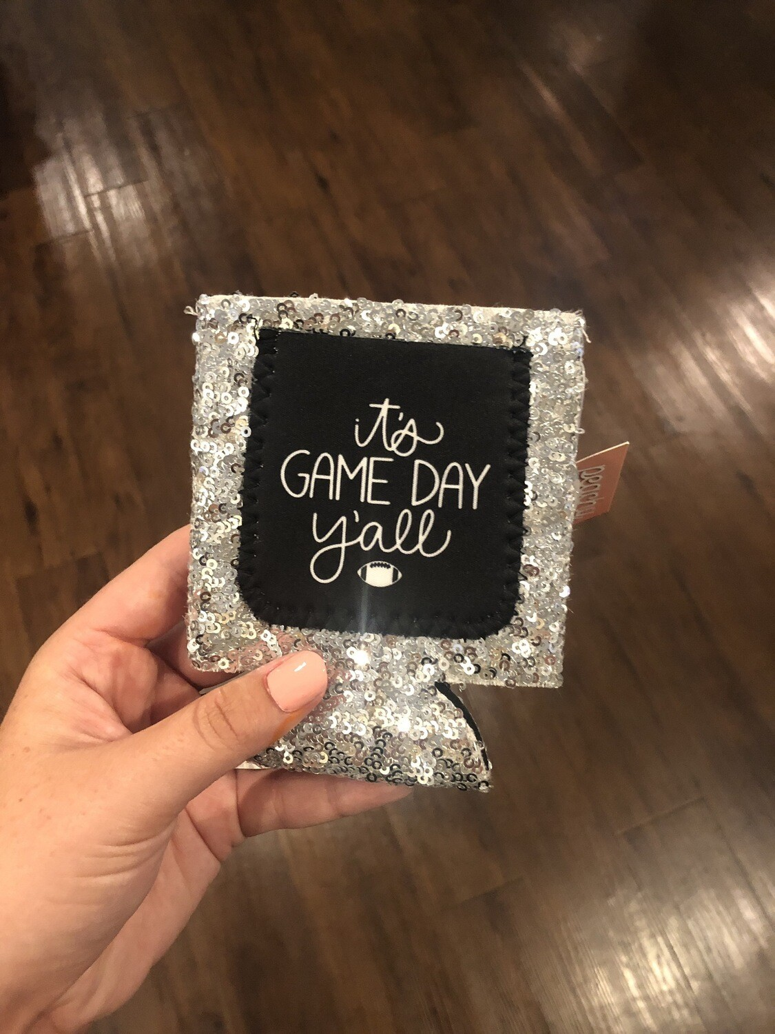 ITS GAMEDAY YALL SEQUIN KOOZIE