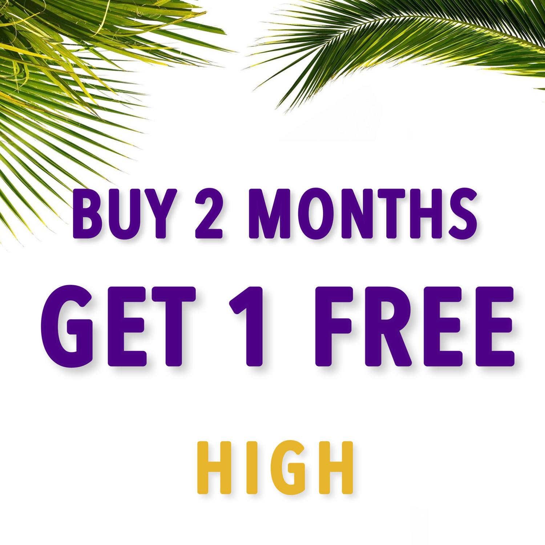 BUY 2, GET 1 FREE - HIGH