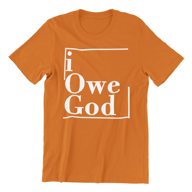 *New Half Box* I OWE GOD Short-Sleeve Unisex T-Shirt - Orange