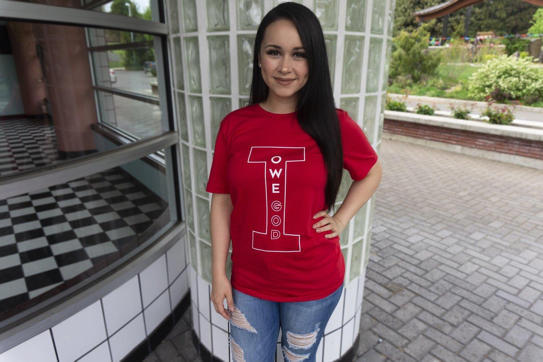 I OWE GOD Short-Sleeve Unisex T-Shirt - Red