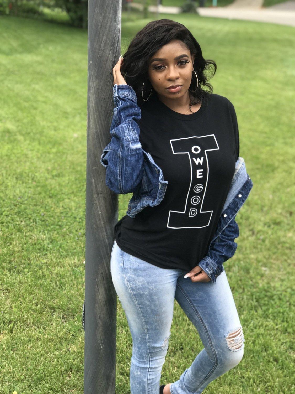 I OWE GOD Short-Sleeve Unisex T-Shirt - Black