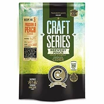 Mangrove Jack's Craft Peach and Passionfruit Cider Pouch