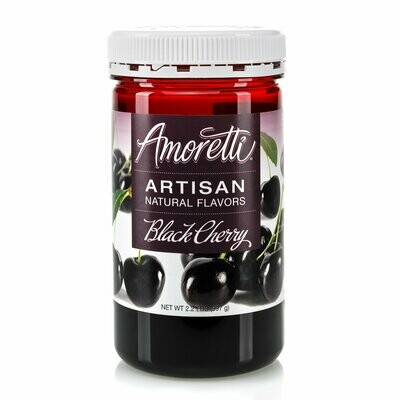 Amoretti Natural Black Cherry Artisan Flavor  (8 oz)