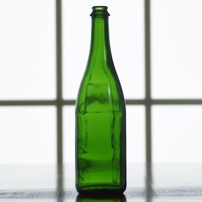 750 ml Emerald Green Champagne Bottles (case of 12)