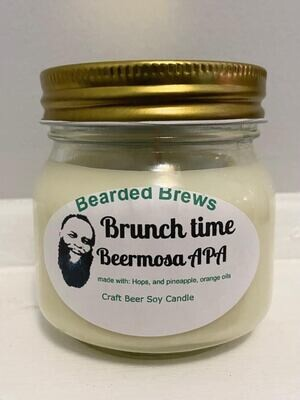 Brunch Time Beermosa APA Soy Craft Beer Candle (8 oz)