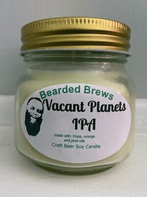 Vacant Planets IPA Soy Craft Beer Candle (8 oz)