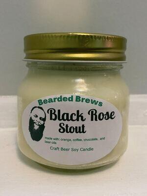Black Rose Stout Soy Craft Beer Candle (8 oz)