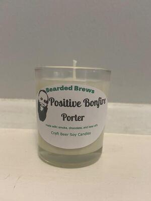 Positive Bonfire Porter Soy Craft Beer Candle (2.5 oz)
