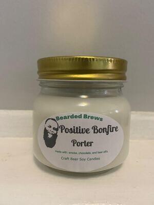 Positive Bonfire Porter Soy Craft Beer Candle (8 oz)