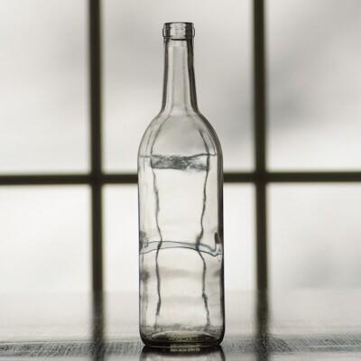 Clear Bordeaux Wine Bottles 750 mL (Case of 12)