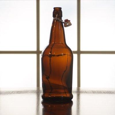 1 Liter FLip Top Bottle (Brown) - Single