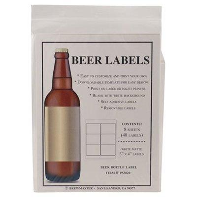 Beer Bottle Labels - Pack of 48