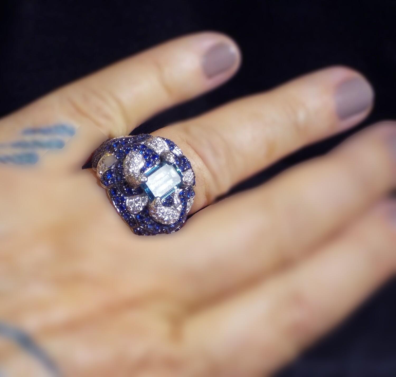 """The Little Man"" Blue Diamond Ring"