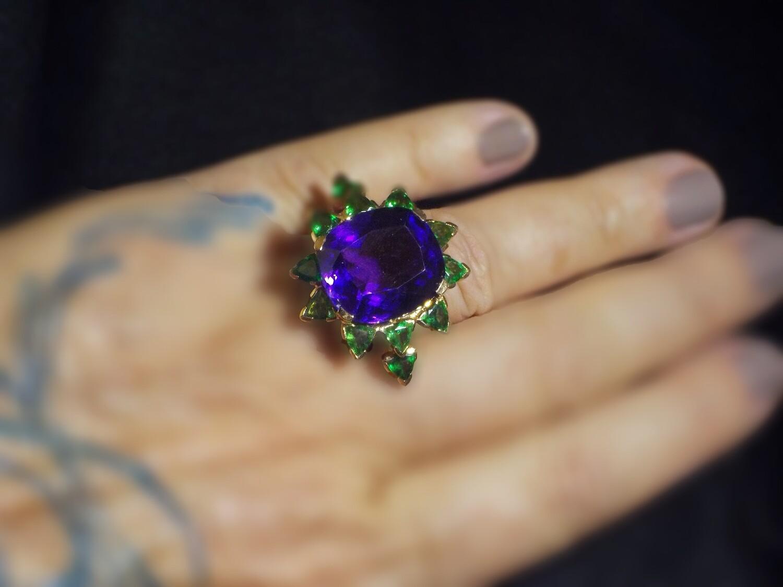 """The Purple Iris"" Ring"