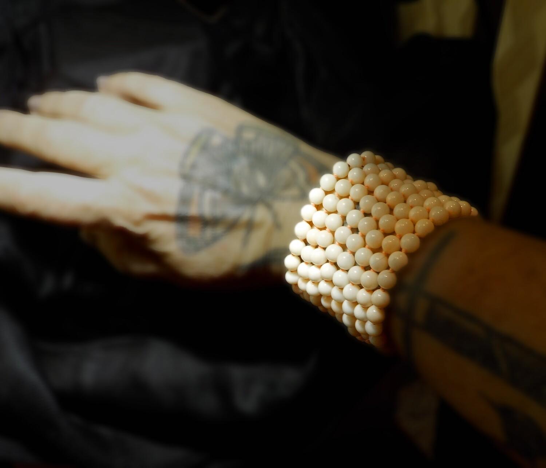 Japanese Angel Skin Coral Bracelet