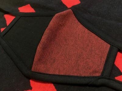 ◆忍者マスク(shibuaka×kuro)定番柄 NINJA MASK
