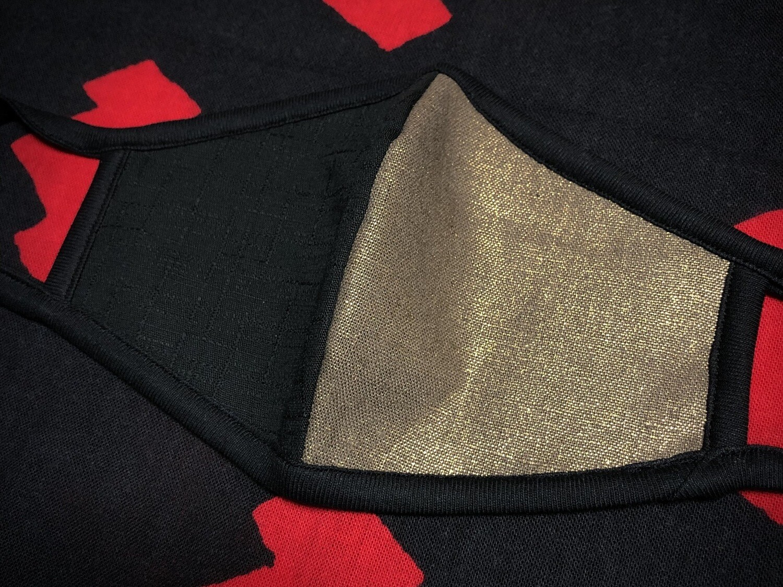 ◆忍者マスク(Black/IBUSHI金) NINJA MASK