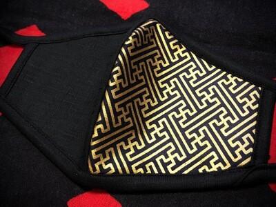 ◆忍者マスク(Black/卍)定番柄 NINJA MASK