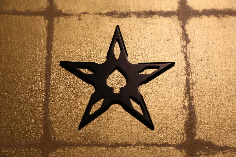 Large shuriken (Ninja star) : star/black (Imitation)大型手裏剣 星型/黒