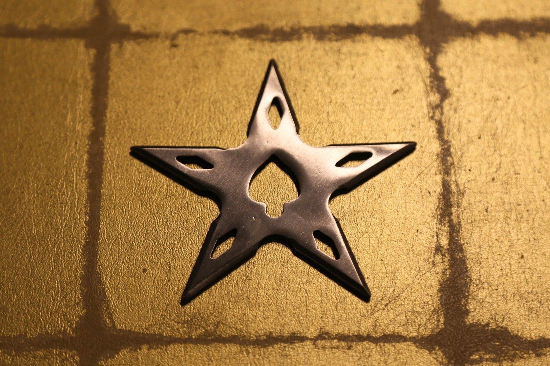 Large shuriken (Ninja star) : star/silver (Imitation)大型手裏剣 星型/銀