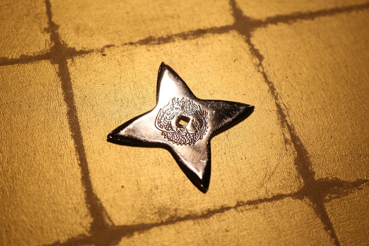 Chrome plating Shuriken (Ninja star):Cross (Imitation)クロームメッキ手裏剣 十字