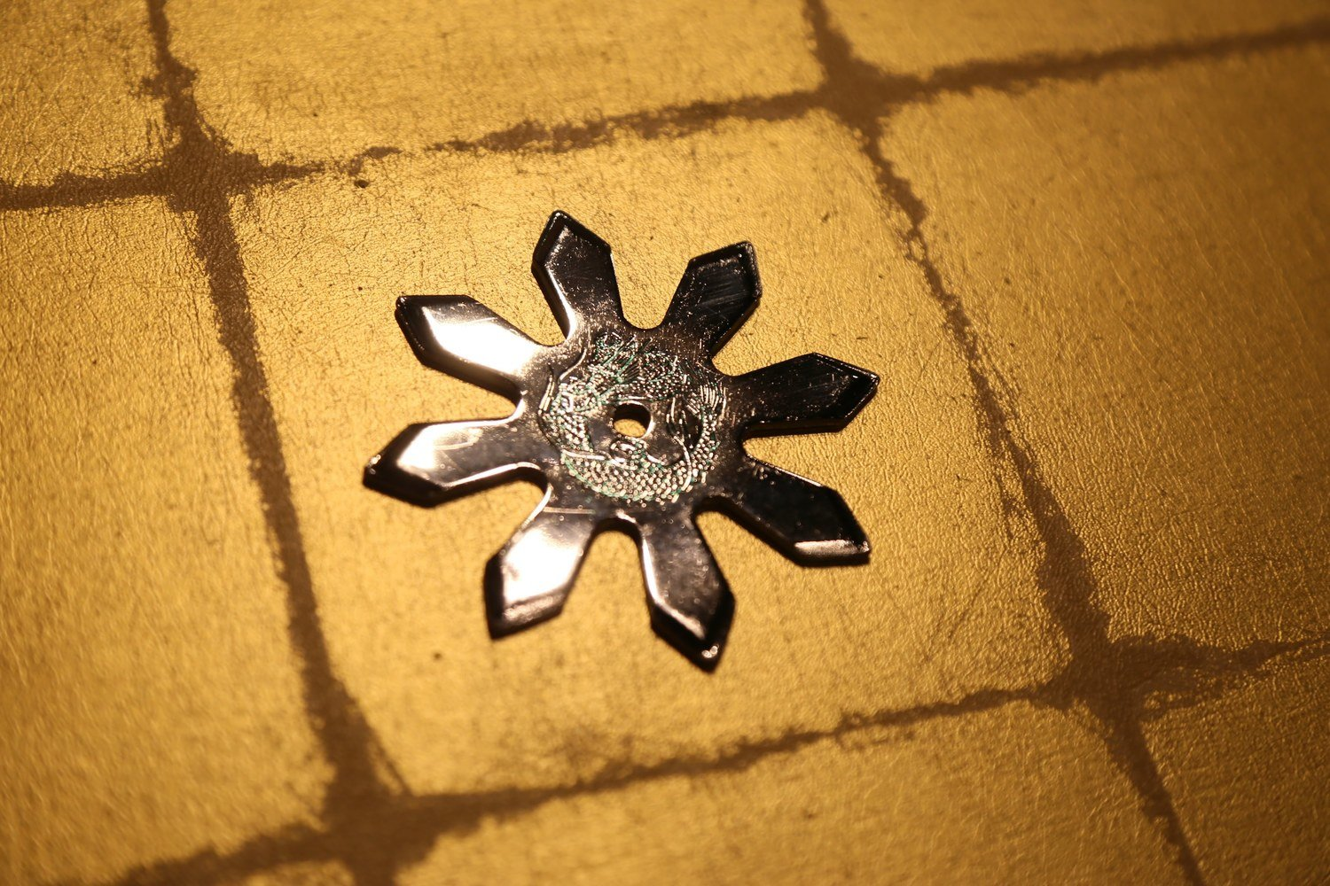 Chrome plating Shuriken (Ninja star):Eight points (Imitation)クロームメッキ手裏剣 八方