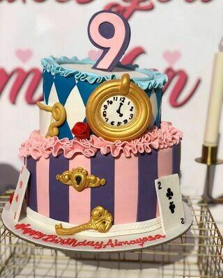 Alice in Wonderland theme Cake - 3D