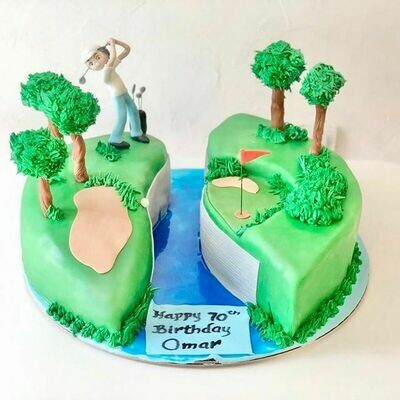 Golf Enthusiast Cake - 3D
