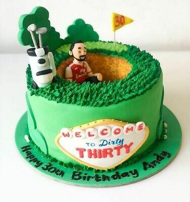 Golf Lover Theme Cake