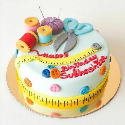 Customised Sewing Theme Cake