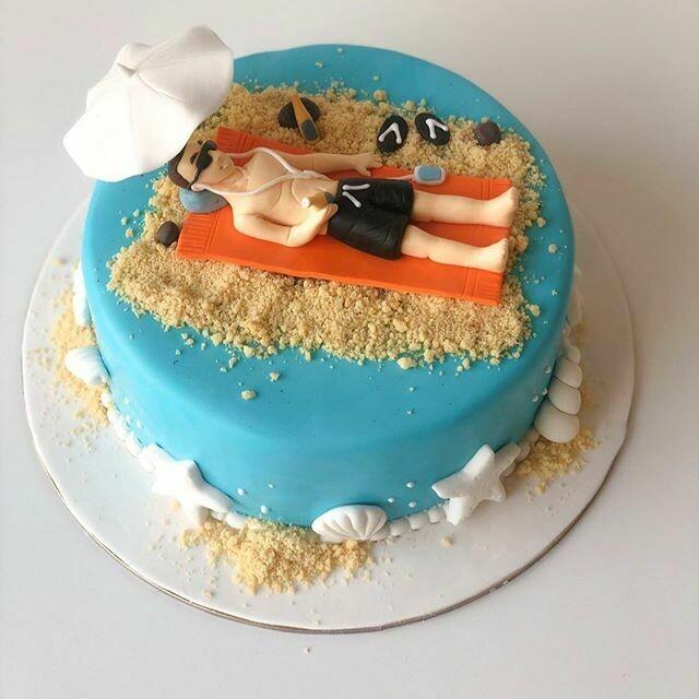 Beach Lover Cake - 3D