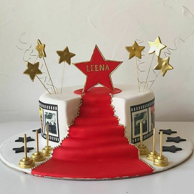 Red Carpet/Hollywood/Bollywood Theme Cake