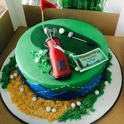 Golf Theme Cake - 3D