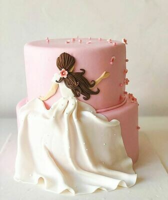 Lady in White Cake